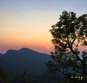 a beautiful sunset in phucheefah