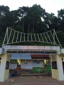 entrance gate Gunung Padang, west Sumatera