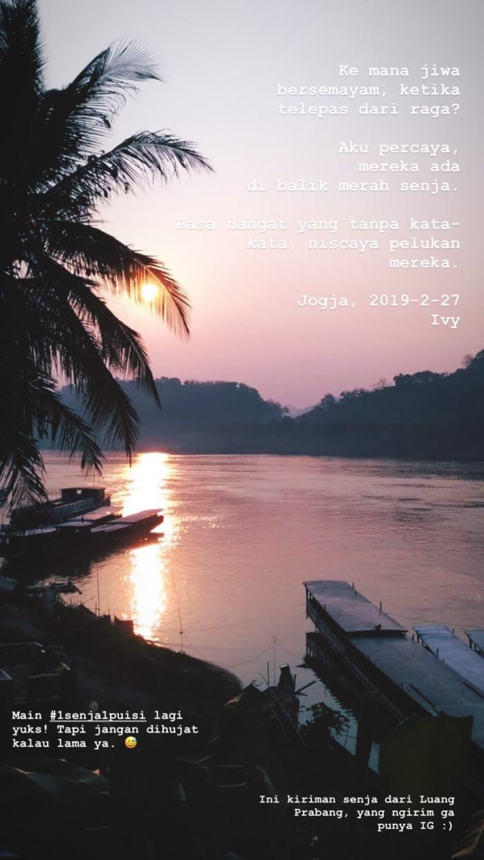 Senja di tepian sungai, Luang Prabang 2019